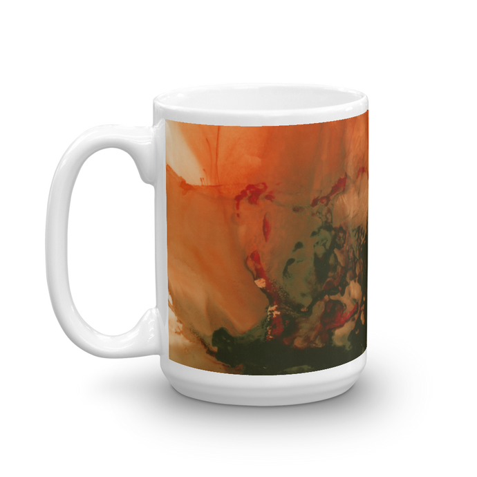 Mug:  Ophelia's Orange Orchid