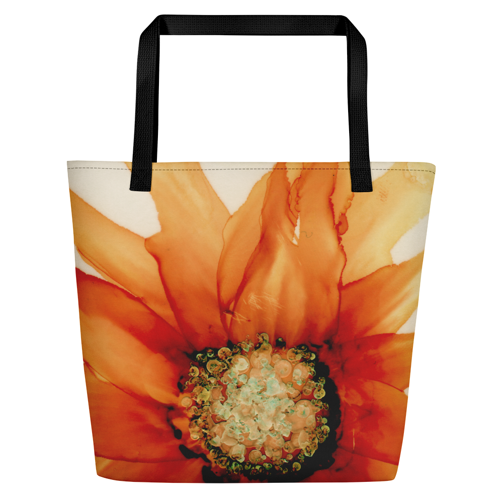 Tote with pocket:  Mandarin Orange