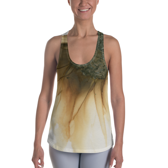 Women's Racerback Tank:  Gold Strike