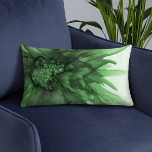 Basic Pillow:  Green Queen