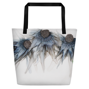 Tote with pocket:  Bleu Hens