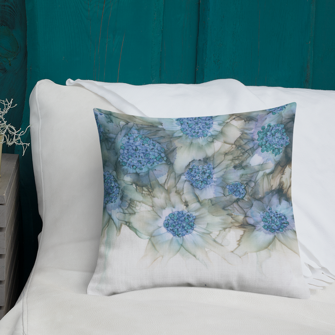 Premium Pillow:  Blue Rhapsody