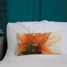 Load image into Gallery viewer, Premium Pillow:  Ophelia's Orange Orchid