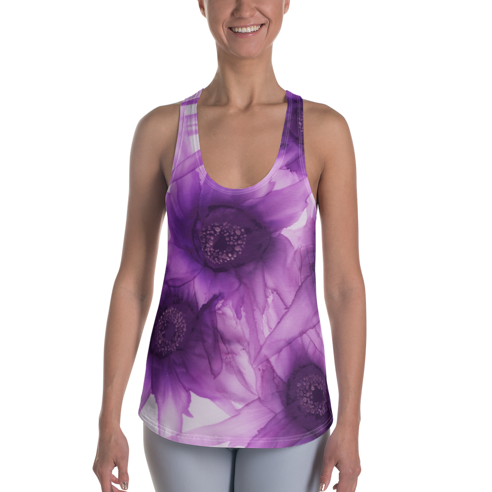 Women's Racerback Tank:  Purple Phaze