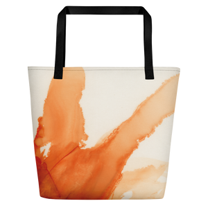 Tote with pocket:  Ophelia's Orange Orchid