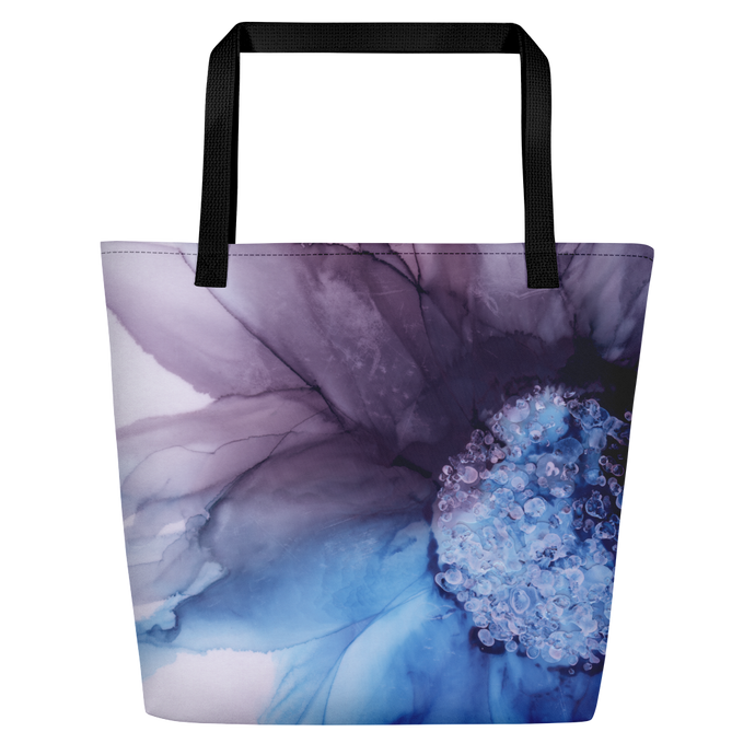 Tote with pockets:  Blue Moon