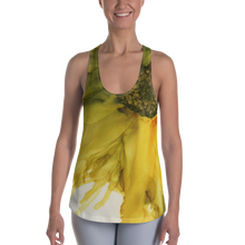 Load image into Gallery viewer, Women's Racerback Tank:  September Sunflower