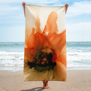 Towel:  Ophelia's Orange Orchid