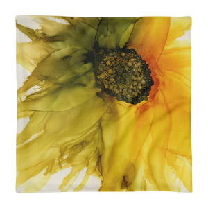 Premium Pillow Case:  September Sunflower