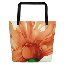 Load image into Gallery viewer, Tote with pocket:  Coral Crushed