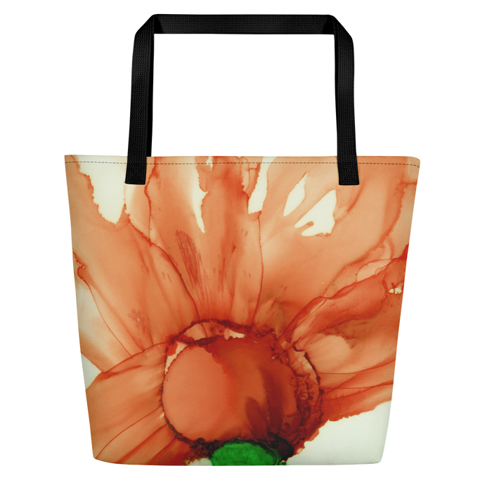Tote with pocket:  Coral Crushed