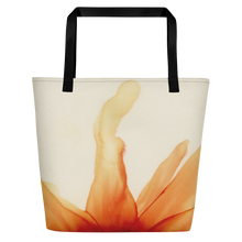 Load image into Gallery viewer, Tote with pocket:  Mandarin Orange