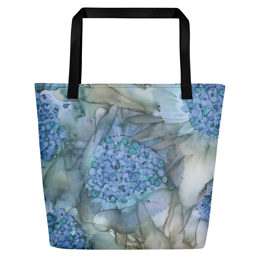 Tote with pocket:  Blue Rhapsody
