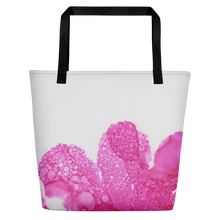 Load image into Gallery viewer, Tote with pocket:  Dewy Blossom