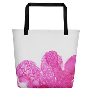 Tote with pocket:  Dewy Blossom