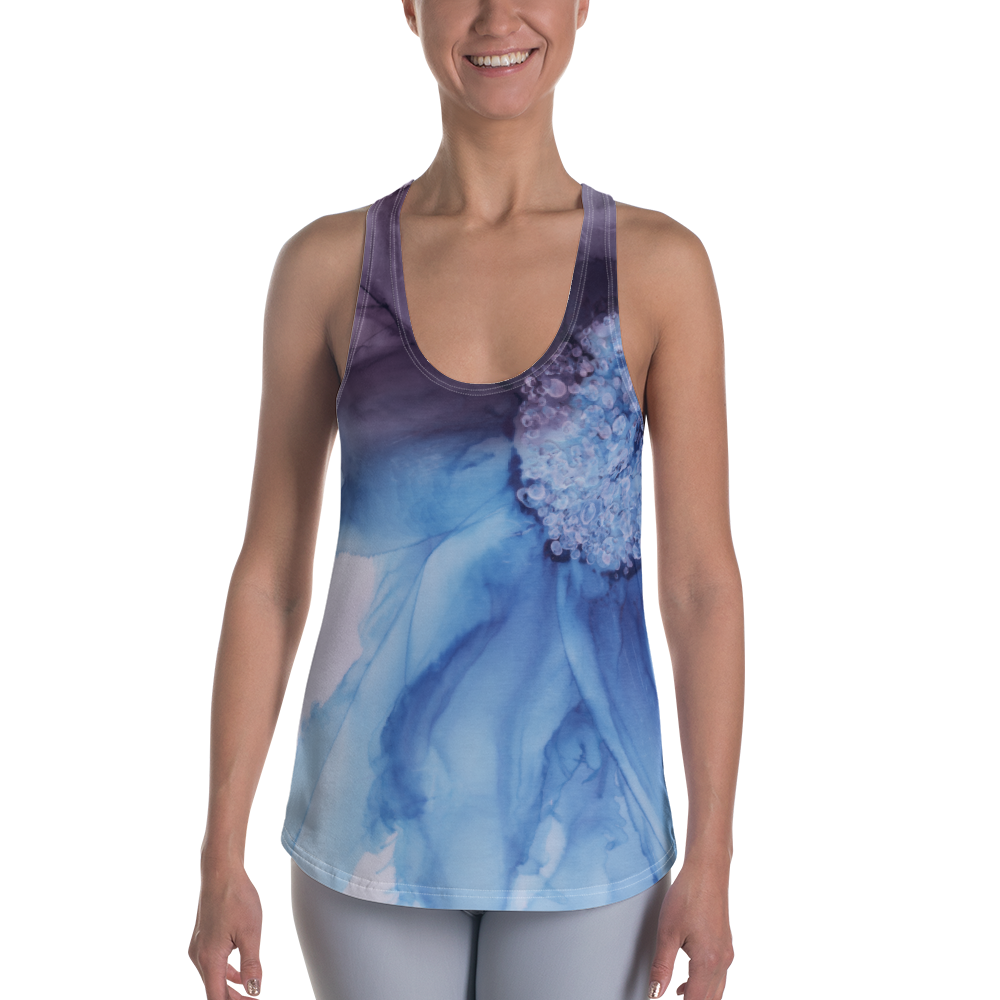 Women's Racerback Tank:  Blue Moon