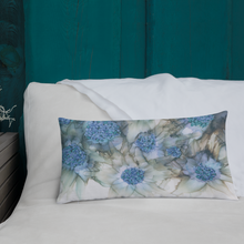 Load image into Gallery viewer, Premium Pillow:  Blue Rhapsody