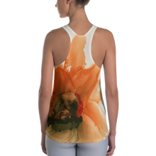 Load image into Gallery viewer, Women's Racerback Tank:  Ophelia's Orange Orchid