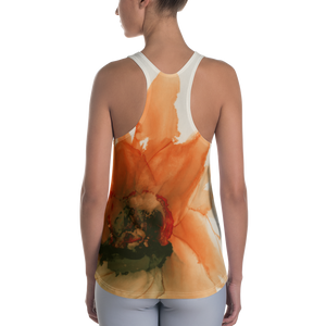 Women's Racerback Tank:  Ophelia's Orange Orchid