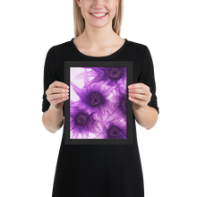 Load image into Gallery viewer, Framed poster:  Purple Phaze