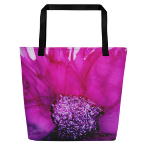 Tote with pocket:  Lady Magenta