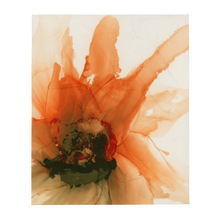 Load image into Gallery viewer, Throw Blanket:  Ophelia's Orange Orchid