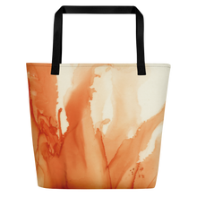 Load image into Gallery viewer, Tote with pocket:  Tangerine Tutu