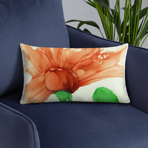 Basic Pillow:  Coral Crushed
