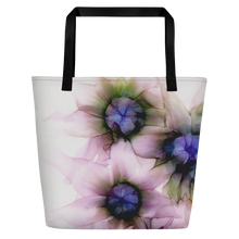Load image into Gallery viewer, Tote with pocket:  Lavender Lights