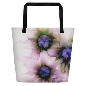 Tote with pocket:  Lavender Lights