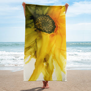 Towel:  September Sunflower