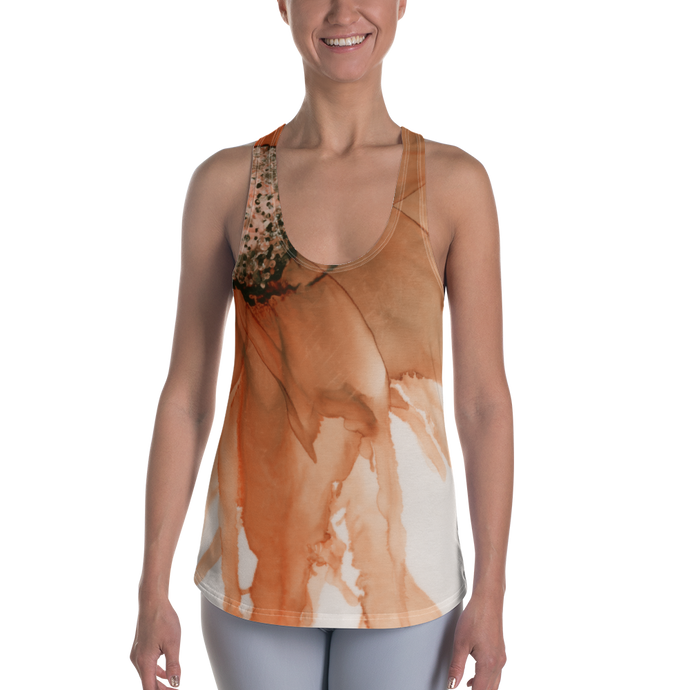 Women's Racerback Tank:  Harvest Moon