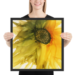 Framed poster:  September Sunflower