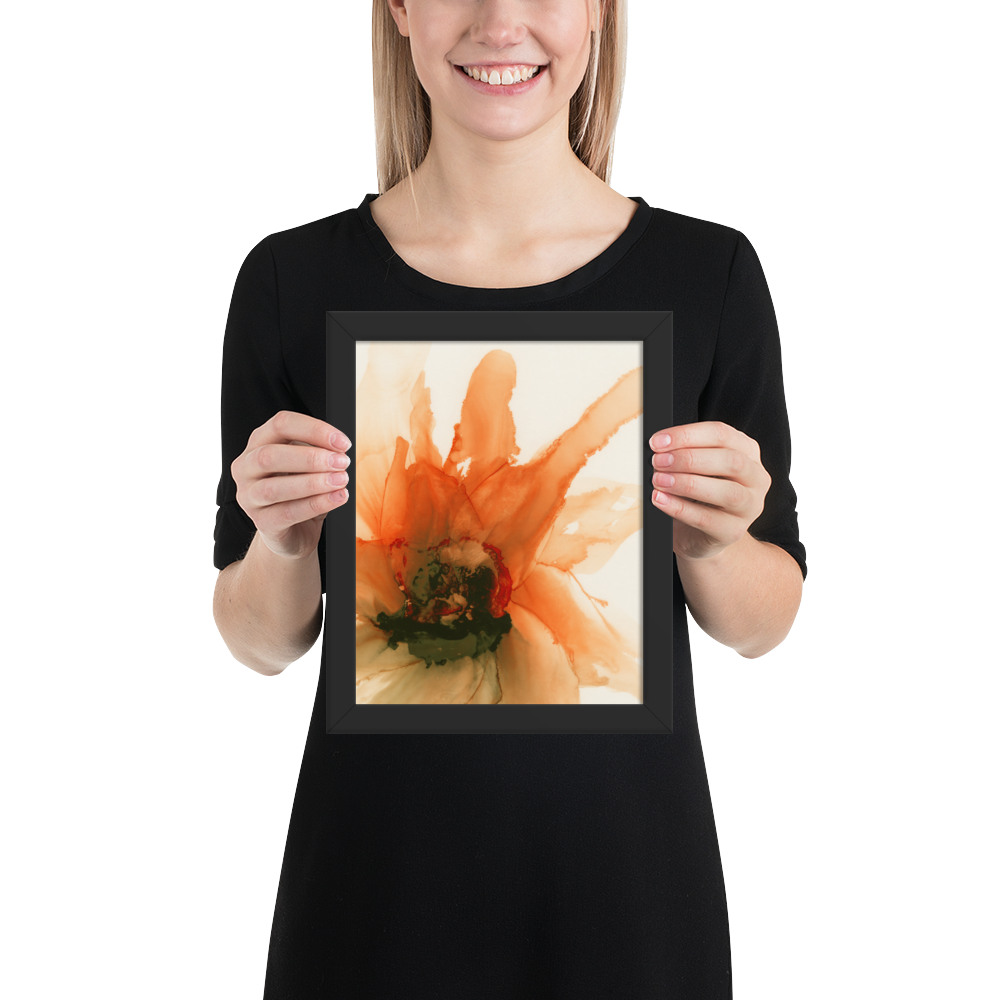 Framed poster:  Ophelia's Orange Orchid