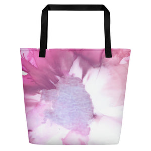Tote with pocket:  Pink Ladies