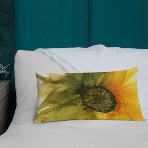 Premium Pillow:  September Sunflower