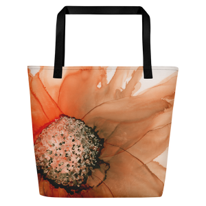 Tote with pocket:  Harvest Moon