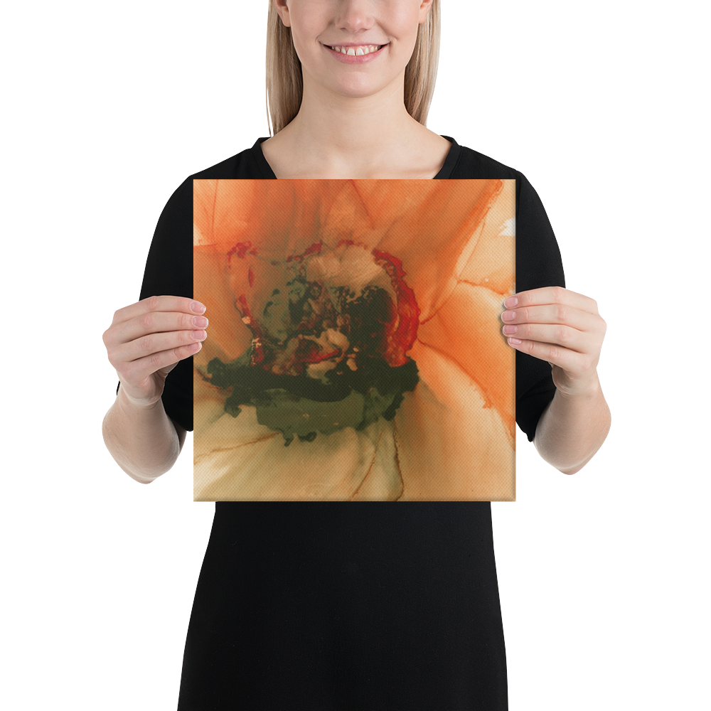 Canvas:  Ophelia's Orange Orchid