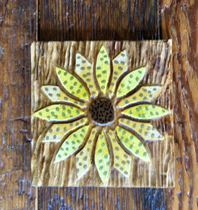 "Sunflower Magnet - 3""x3"""