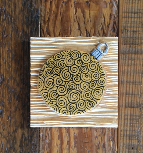 Gold Ornament Magnet 3