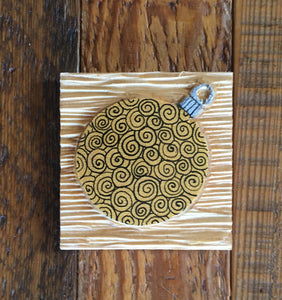 "Gold Ornament Magnet 3""x3"""