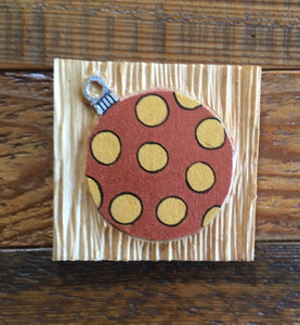 "Brown Polkadot Ornament Magnet 3""x3"""