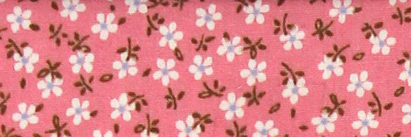 Photo of the Flowers in White and Sky Blue on Pink Contrast Fabric