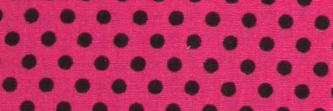 Photo of the Polka Dots in Black on Pink Contrast Fabric