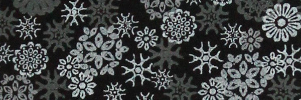 Photo of the Snowflakes on Black Contrast Fabric