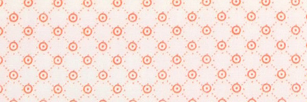 Photo of the Polka Dots Pink Bullseye on White Contrast Fabric
