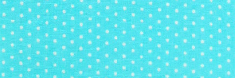 Photo of the Polka Dots White on Turquoise Contrast Fabric