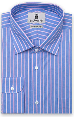 The Light Blue Akanni Stripped Dress Shirt