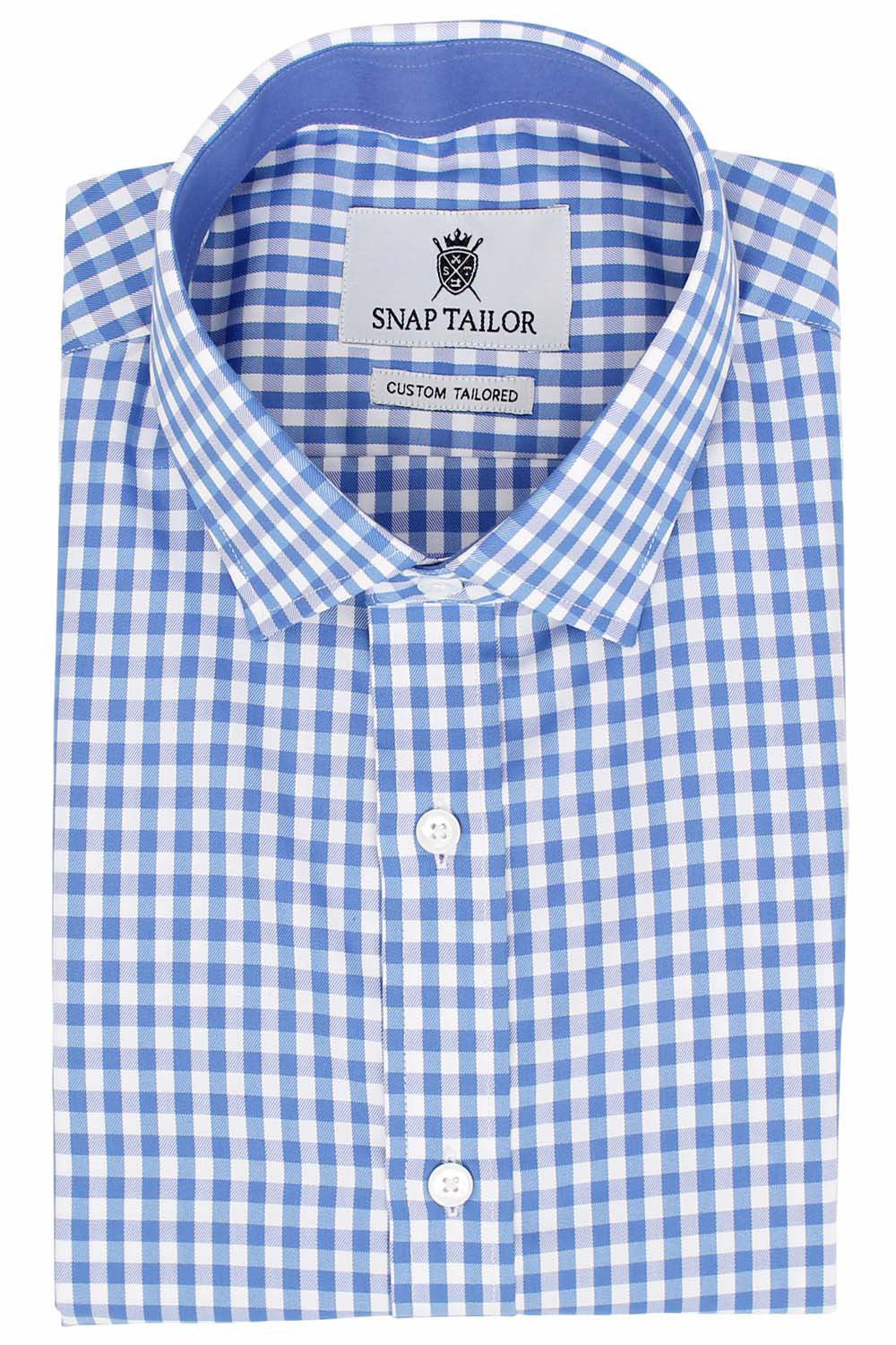Alternate Photo of the Gingham Twill Casual Shirt in Blue