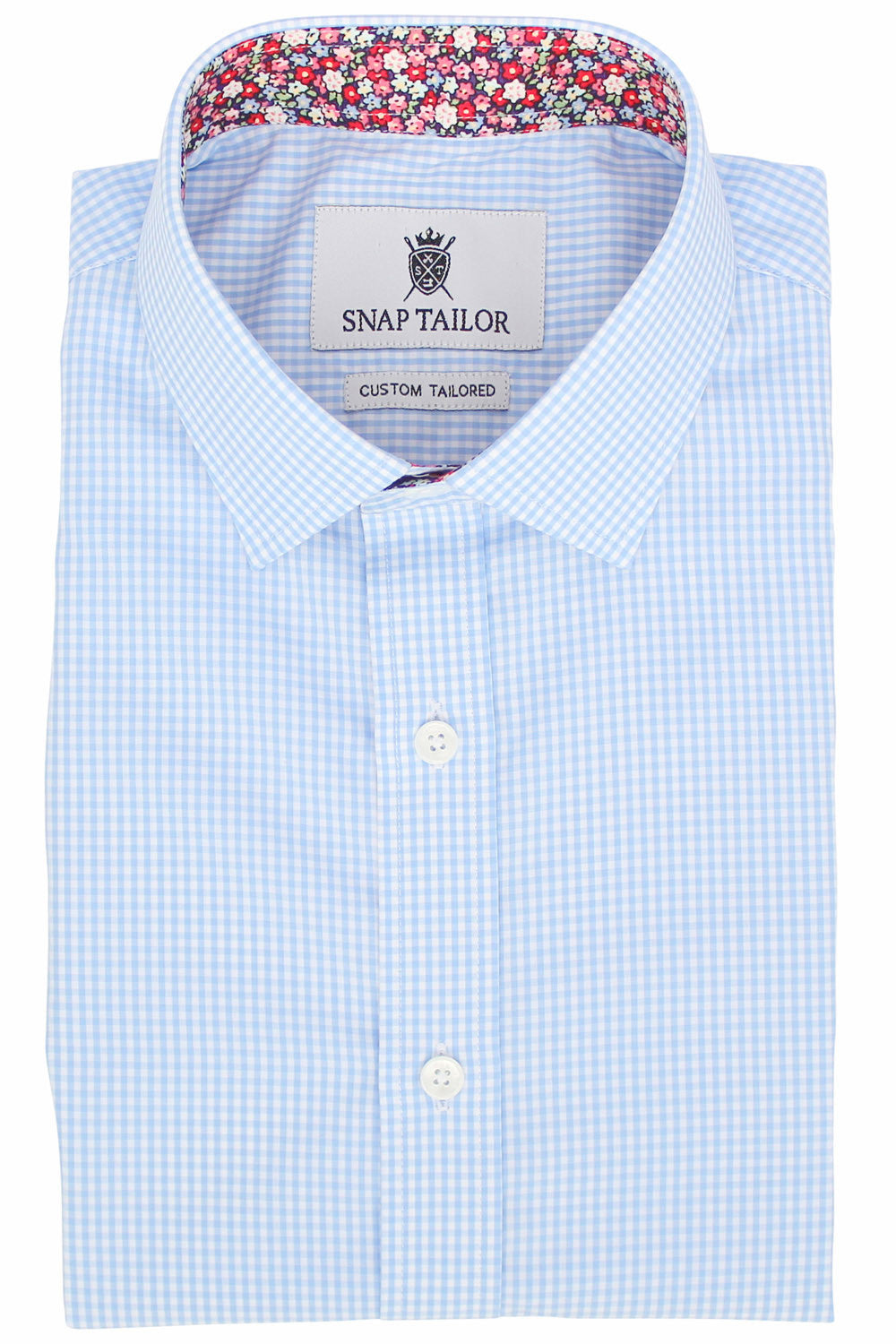 Alternate Photo of the Mini Gingham Dress Shirt in Light Blue